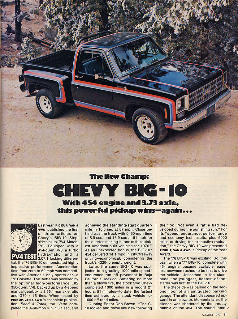 Gmc Special Edition Trucks >> Big 10