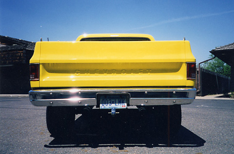 Custom chevy shaved handle tailgate