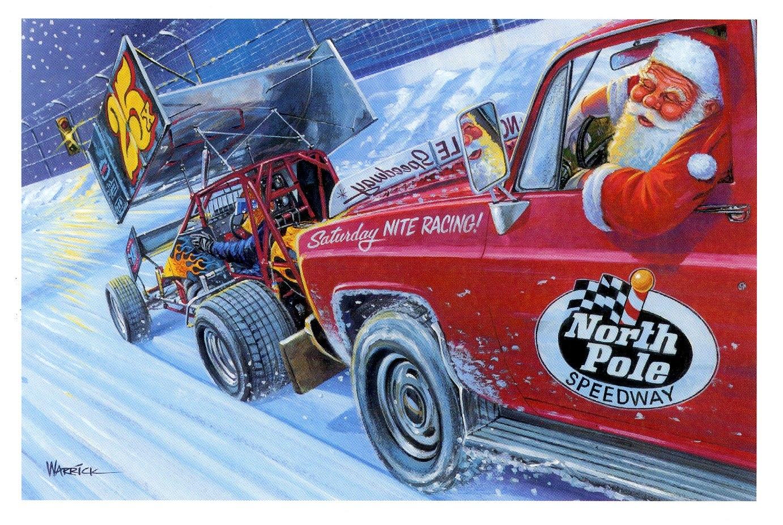 merry christmas race car